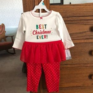 NWT - CARTER'S TWO-PIECE 6 MO CHRISTMAS OUTFIT